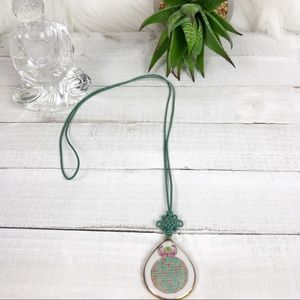 Vintage Asian Porcelain Knotted Necklace •the Path